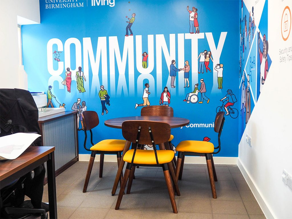 Community Living Hub meeting table